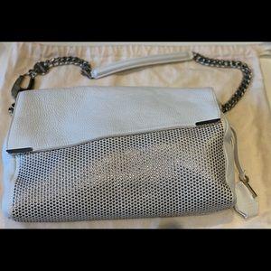 Jimmy Choo White Leather Shoulder Bag